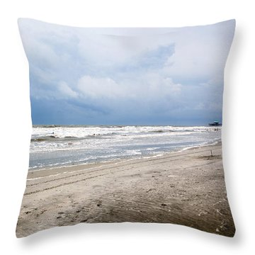 Throw Pillow featuring the photograph Before The Storm by Sennie Pierson
