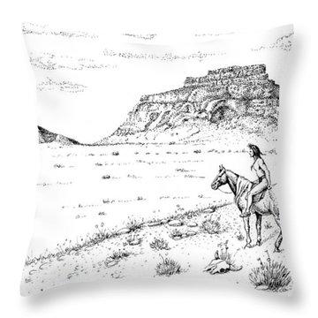Open Prairie Overlook Throw Pillow