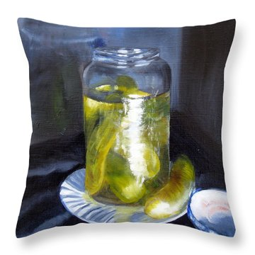 Throw Pillow featuring the painting Before They Are Gone by LaVonne Hand