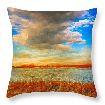 Throw Pillow featuring the digital art Beginning Again by Julis Simo