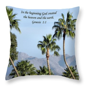 Throw Pillow featuring the photograph Beginning by Deb Halloran