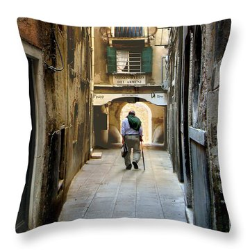 Throw Pillow featuring the photograph Beginning Of An End by Jennie Breeze