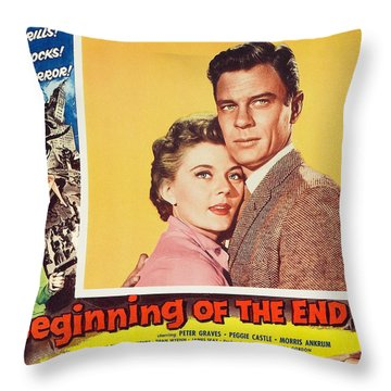 Beginning Of The End 1957 Throw Pillow by Mountain Dreams