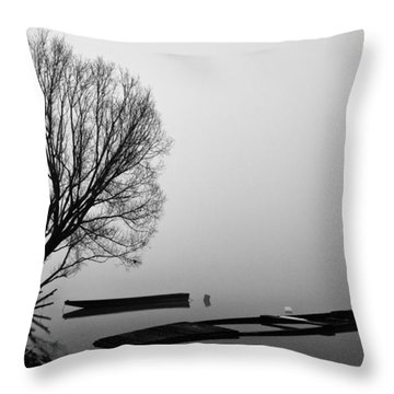 Beginning Of The End Throw Pillow