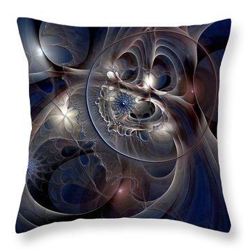 Throw Pillow featuring the digital art Beguiled At Twilight by Casey Kotas