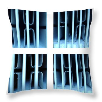Throw Pillow featuring the photograph Behind Bars Part One by Sir Josef - Social Critic - ART