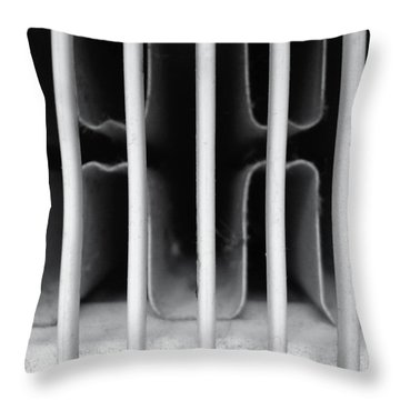 Throw Pillow featuring the photograph Behind Bars Part Three by Sir Josef - Social Critic - ART
