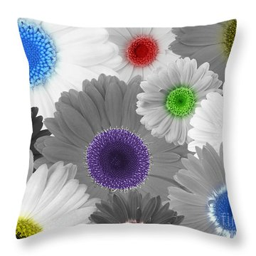 Behind Every Black And White Dream Theres A Rainbow Waiting To Be Seen Throw Pillow by Janice Westerberg