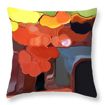 Behind My Window Throw Pillow by Haleh Mahbod