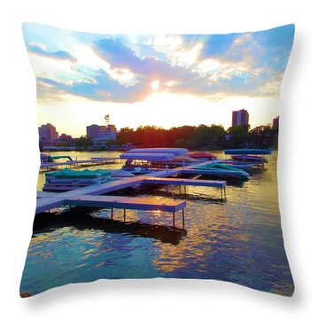 Behind The Brewhouse Throw Pillow