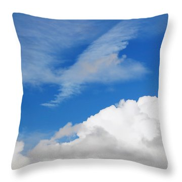 Behind The Clouds Throw Pillow by Susan Wiedmann