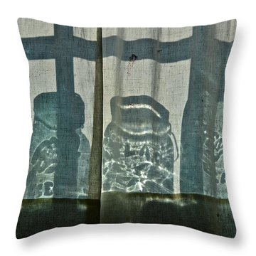 Behind The Curtains - Peoples Choice Award Throw Pillow