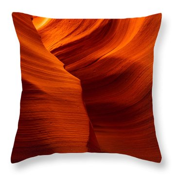 Behind The Curves Throw Pillow