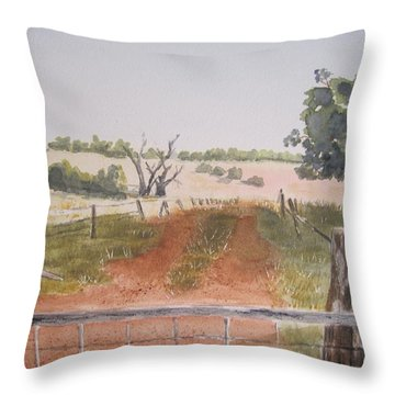 Behind The Gate Throw Pillow