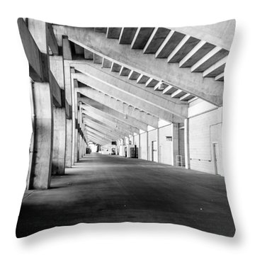 Behind The Grandstand Throw Pillow