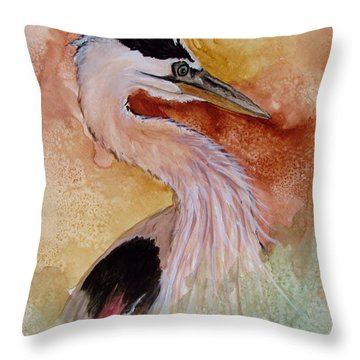Behind The Grasses Throw Pillow