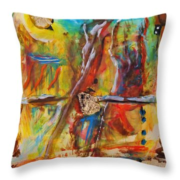 Behind The Mirror Throw Pillow