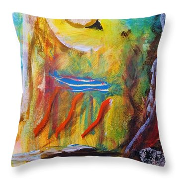 Behind The Mirror Man Throw Pillow