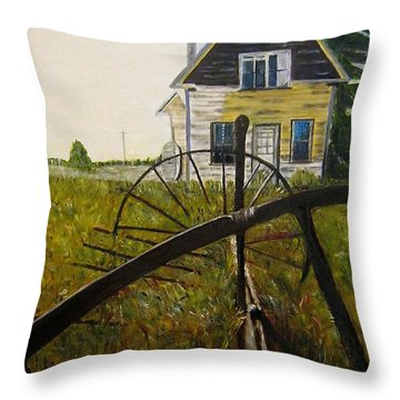 Throw Pillow featuring the painting Behind The Old Church by Marilyn  McNish