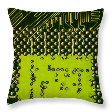 Behind The Processor Socket Throw Pillow by Janne Mankinen