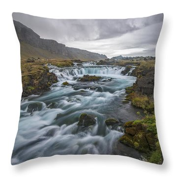 Behind The Rain Throw Pillow by Jon Glaser