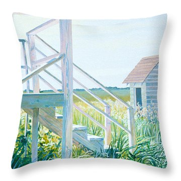 Behind The Town Hall Throw Pillow