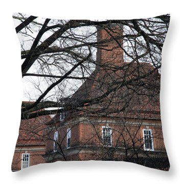 The British Ambassador's Residence Behind Trees Throw Pillow by Cora Wandel