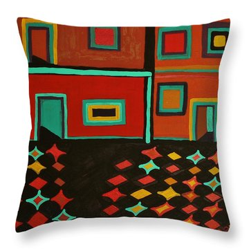 Behind Which Door Throw Pillow by Barbara St Jean