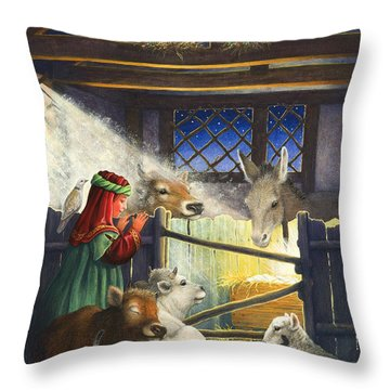 Behold The Child Throw Pillow