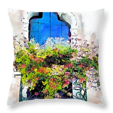 Bei Fiori Throw Pillow by Greg Collins
