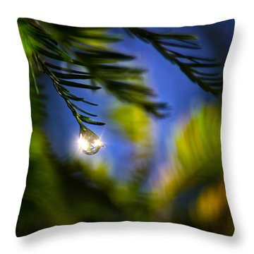 Bejeweled Throw Pillow by Mark Andrew Thomas