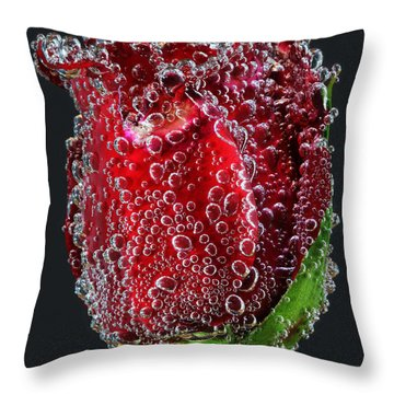 Bejeweled Rose Throw Pillow