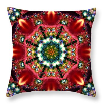 Bejewelled Mandala No 2 Throw Pillow