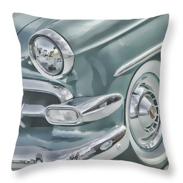 Bel Air Headlight Throw Pillow by Victor Montgomery