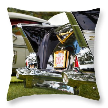 Throw Pillow featuring the photograph Belair Tail Fins  2 by Mick Flynn