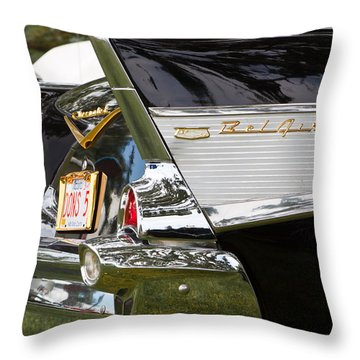 Throw Pillow featuring the photograph Belair Tail Fins  by Mick Flynn