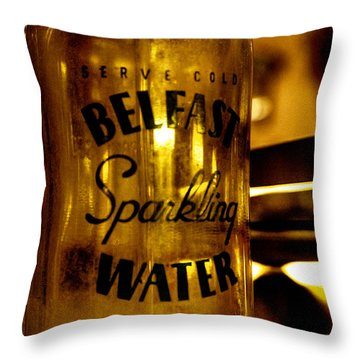 Belfast Sparkling Water Throw Pillow by David Patterson