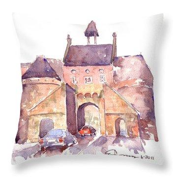 Belgian Gatehouse Throw Pillow
