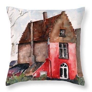 Belgian Historical House Throw Pillow