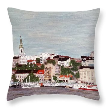 Belgrade Serbia Throw Pillow by Jasna Gopic