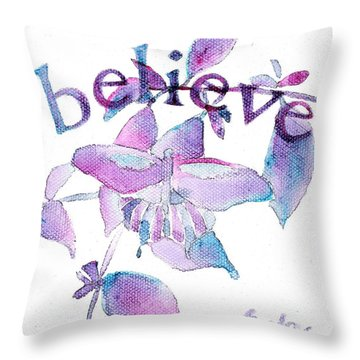 believe II Throw Pillow