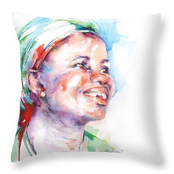 Believe Throw Pillow by Stephie Butler