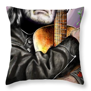 Believing In Rainbows And Butterflies-being Willie Throw Pillow
