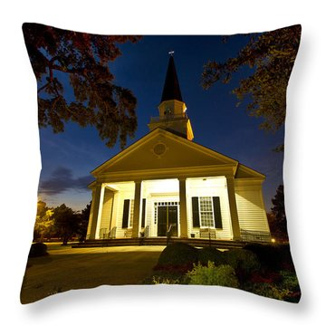 Belin Memorial Umc After Dark Throw Pillow