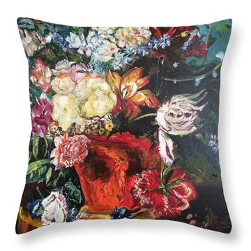 Life Is A Bouquet Of Flowers  Throw Pillow