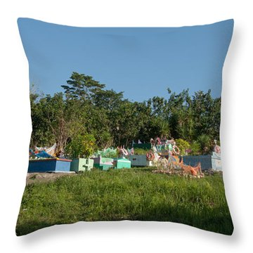 Belize Cemetery Throw Pillow