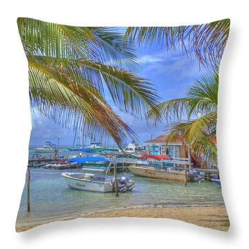 Belize Hdr Throw Pillow