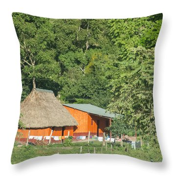 Belize House Throw Pillow