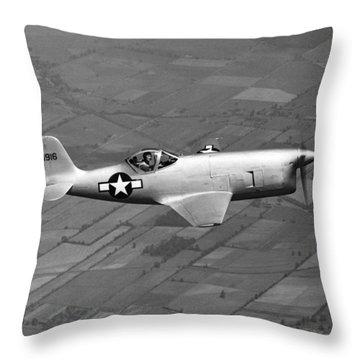 Bell Aircraft Xp-77 Throw Pillow