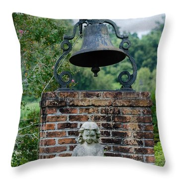 Bell Brick And Statue Throw Pillow